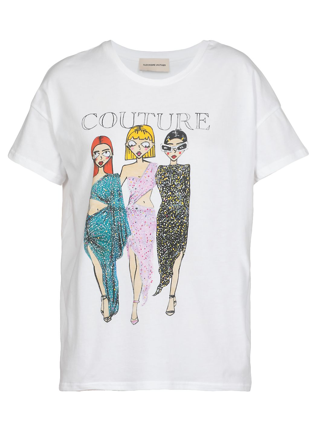 T-shirt in cotone couture