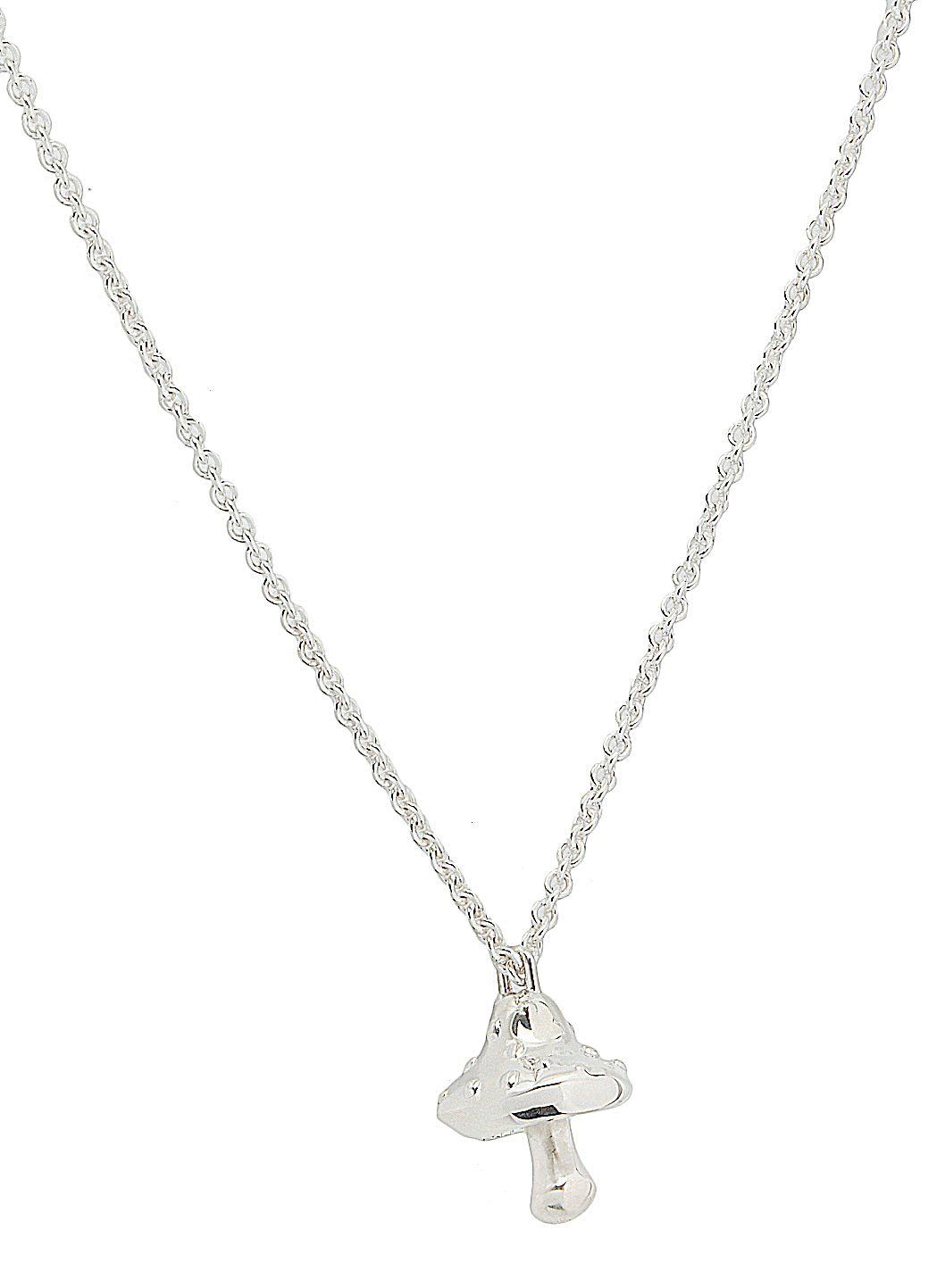 Mushroom charm necklace