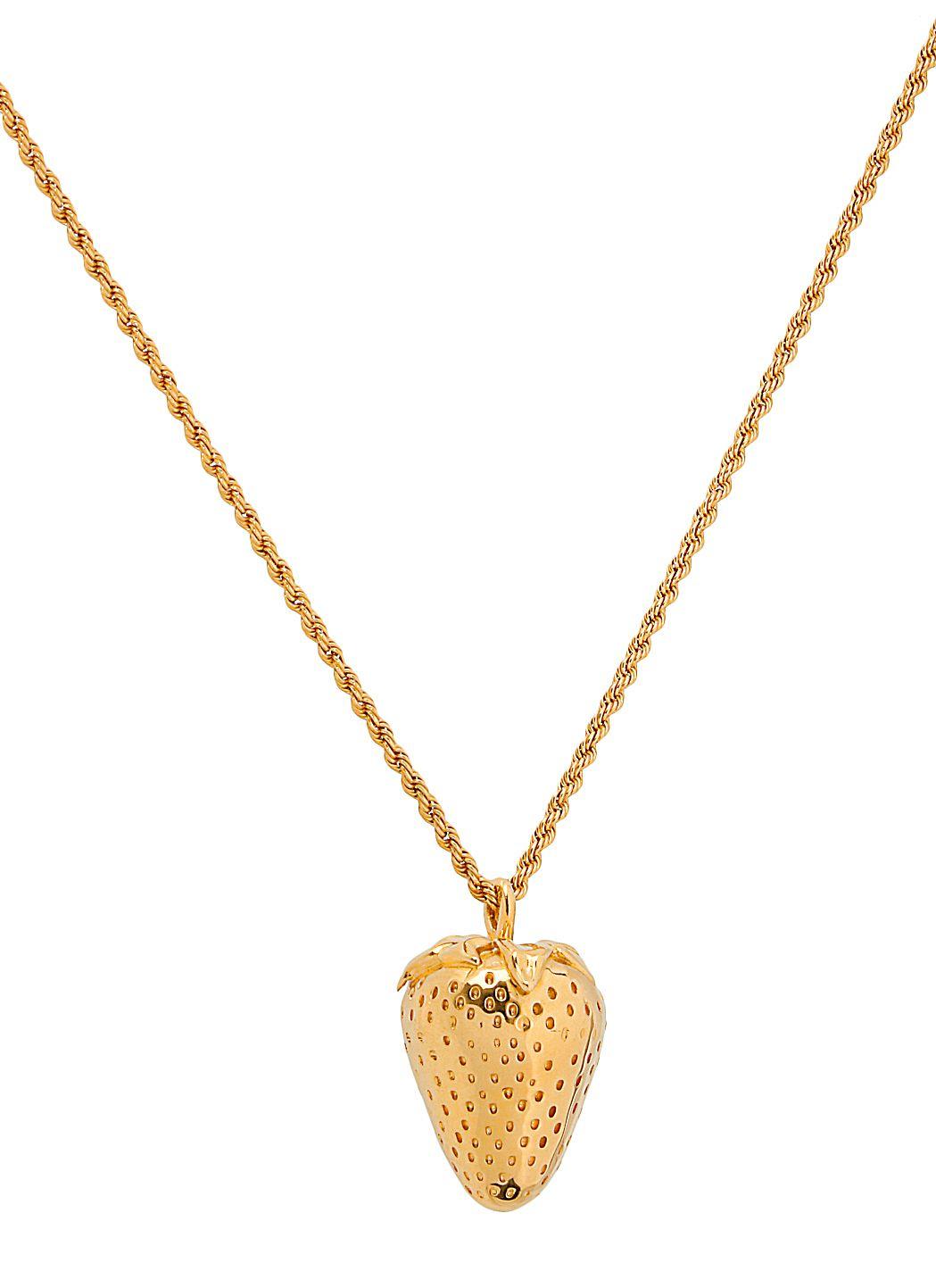Strawberry charm necklace