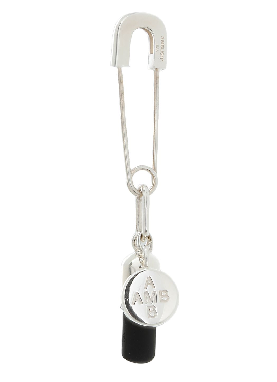 Pill safety pin earring