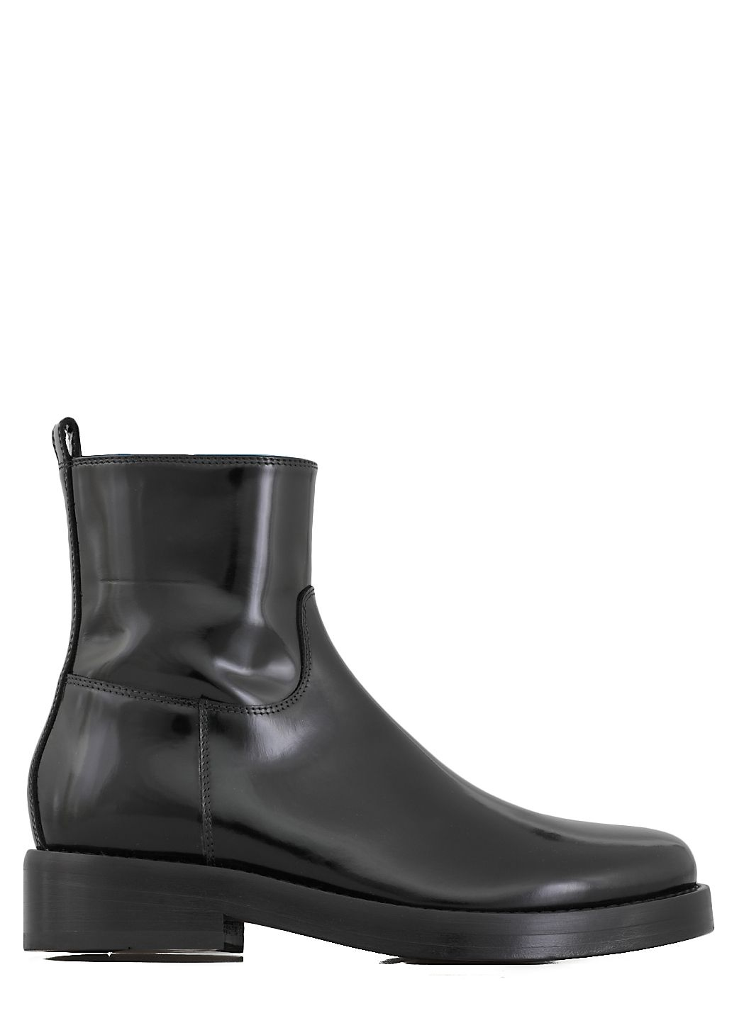 Polished leather boot