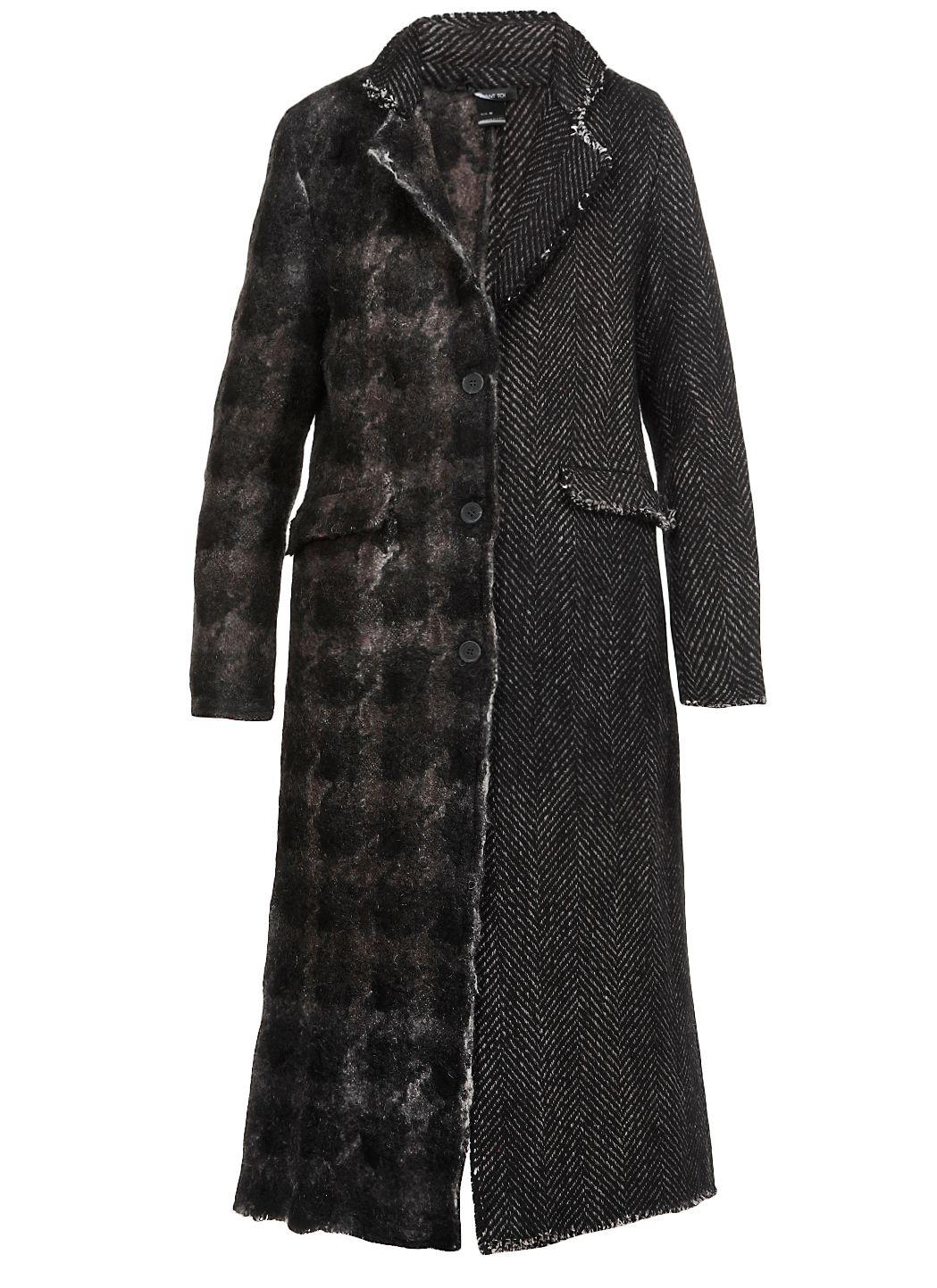 Cappotto lungo in lana vergine