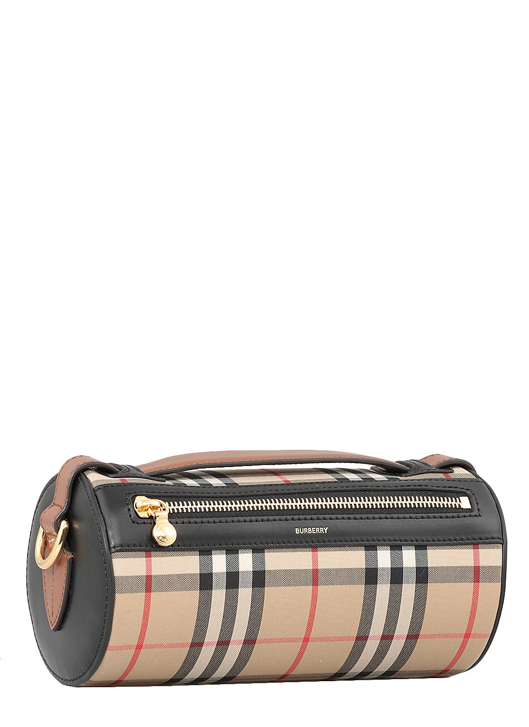 Cylindrical bag with check