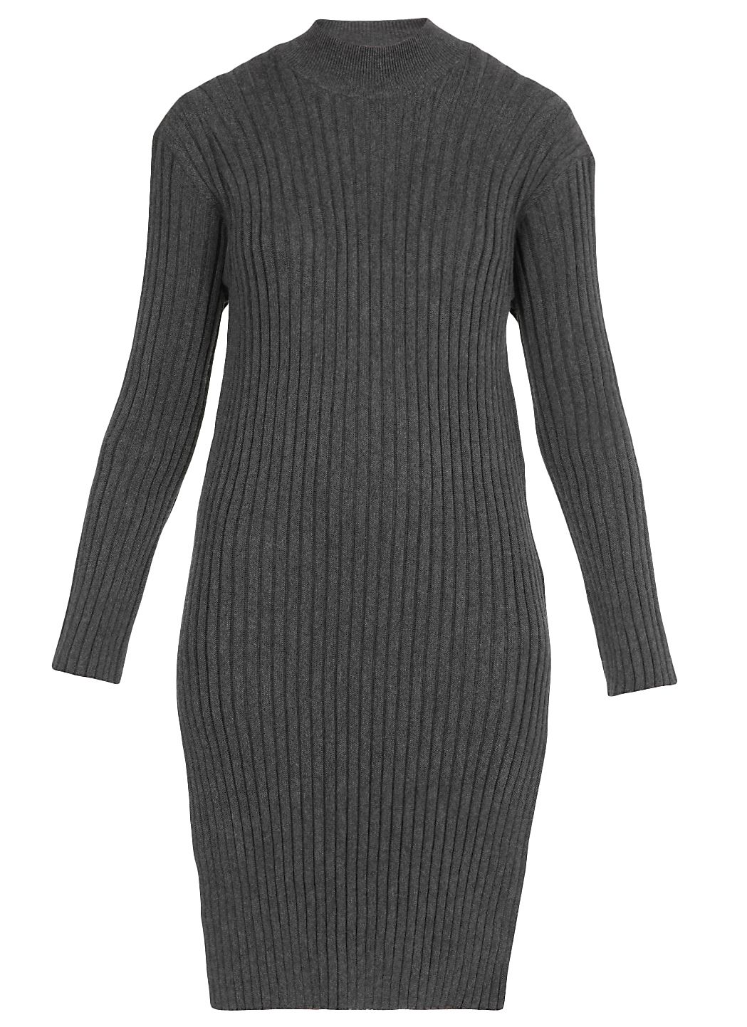 Pleated wool dress