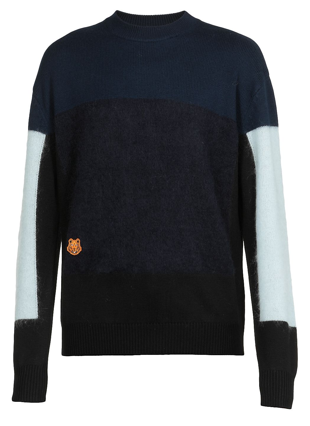 Mohair colourblock jumper