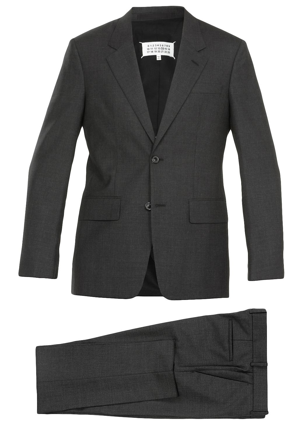 Two pieces virgin wool suit