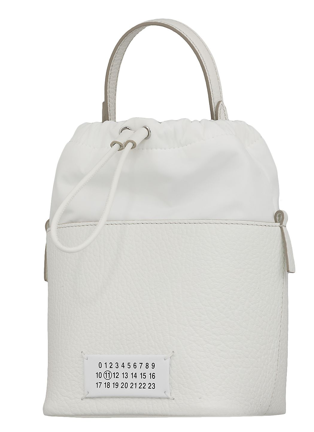 Bucket bag in pelle