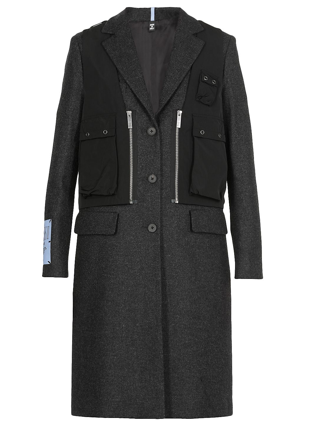 Mono breasted wool coat
