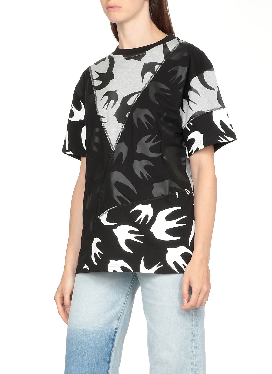Swallow t-shirt con pannelli