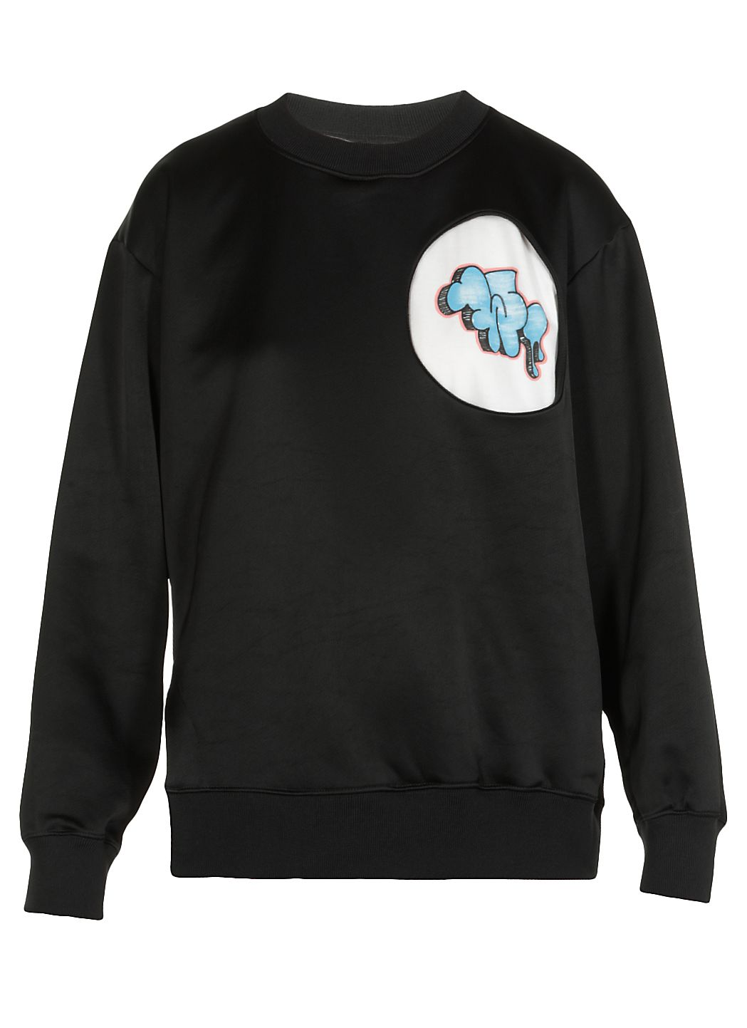 Shiny Fleece Graffiti sweatshirt