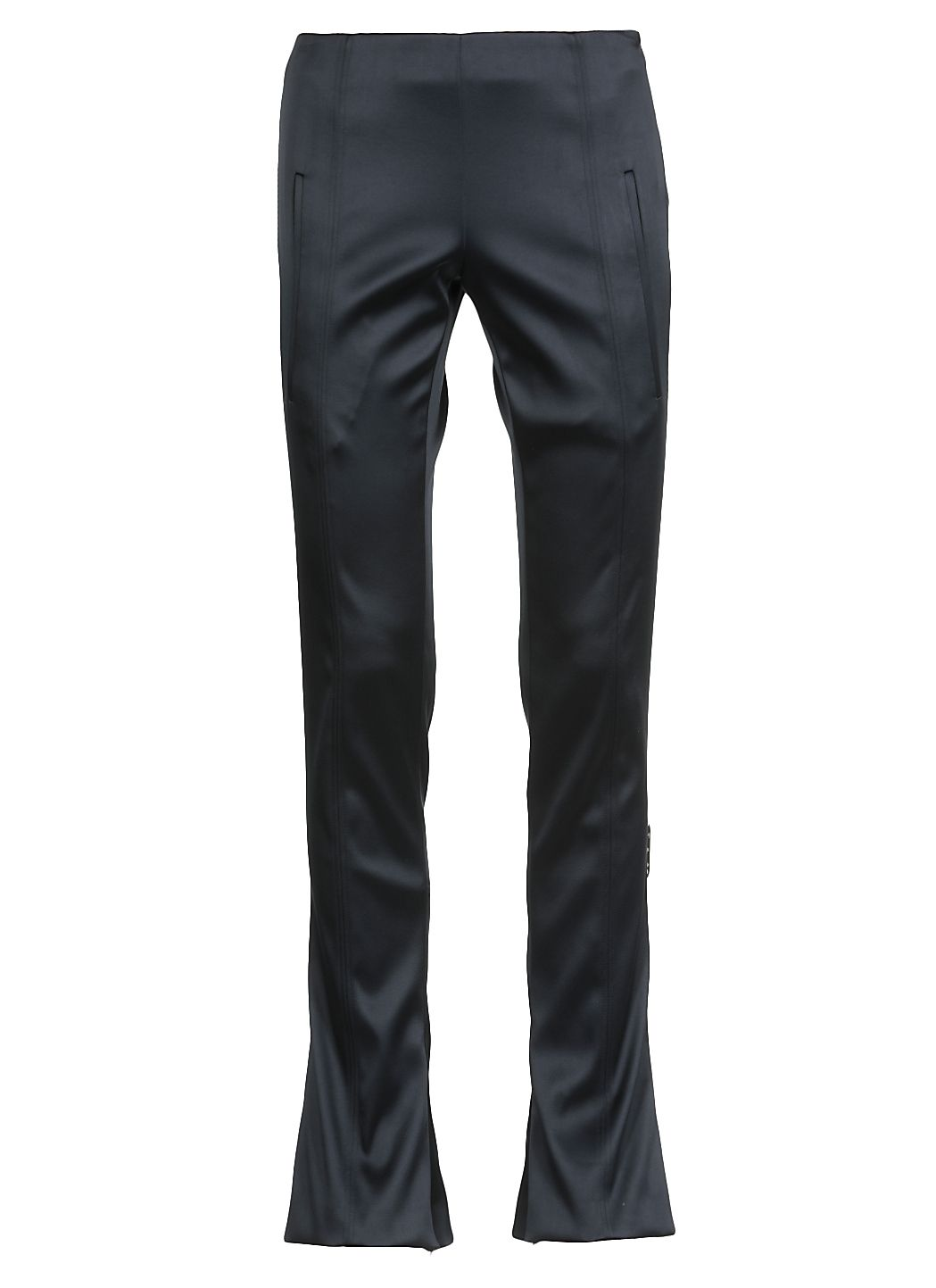 Satin Skinny Flared Trousers