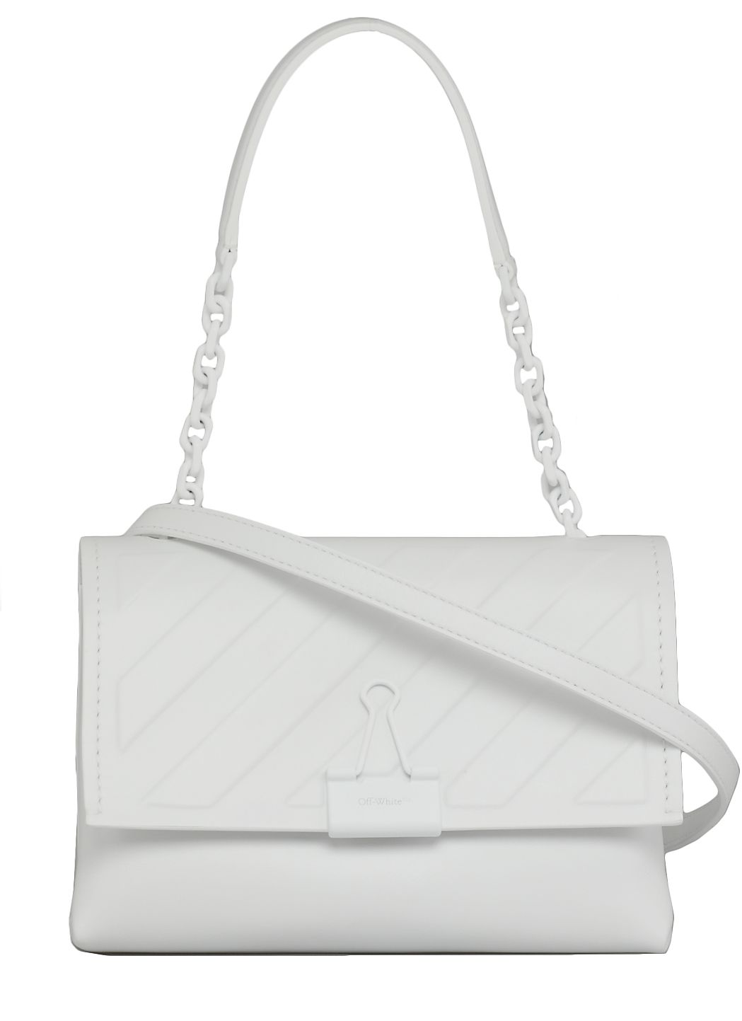 Diag Embossed Bag With Clip