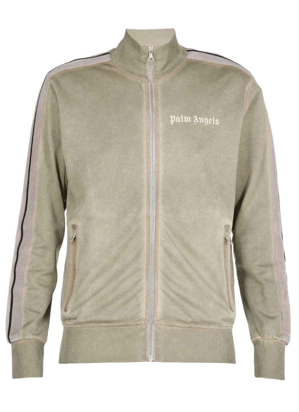 Garment dyed track jacket