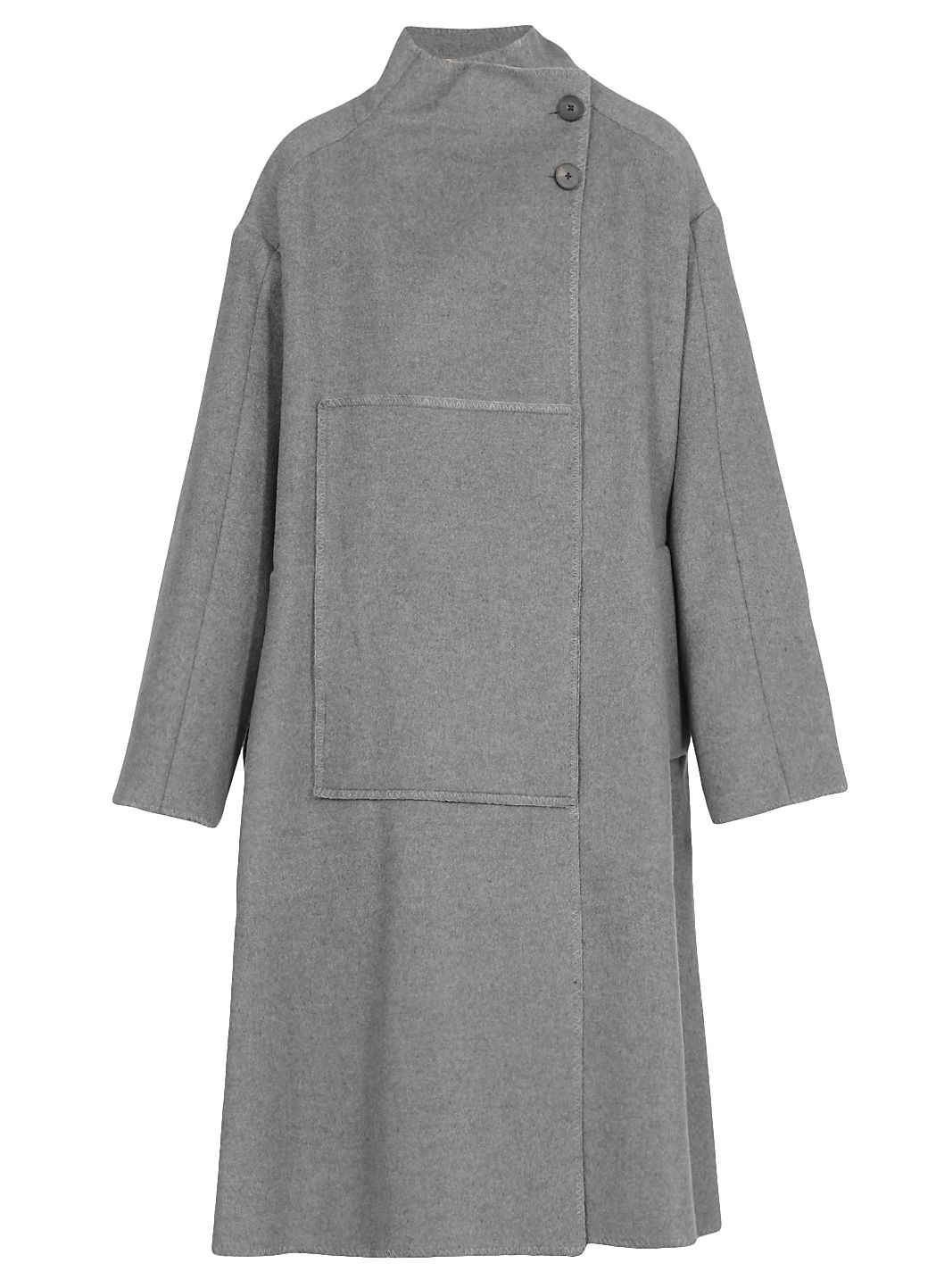 Melton Wool Blend Blanket Coat