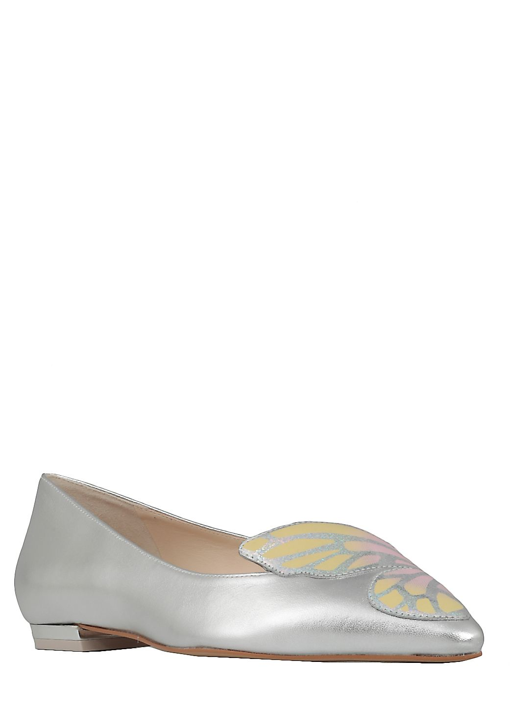 Silver Butterfly Ballet Shoes