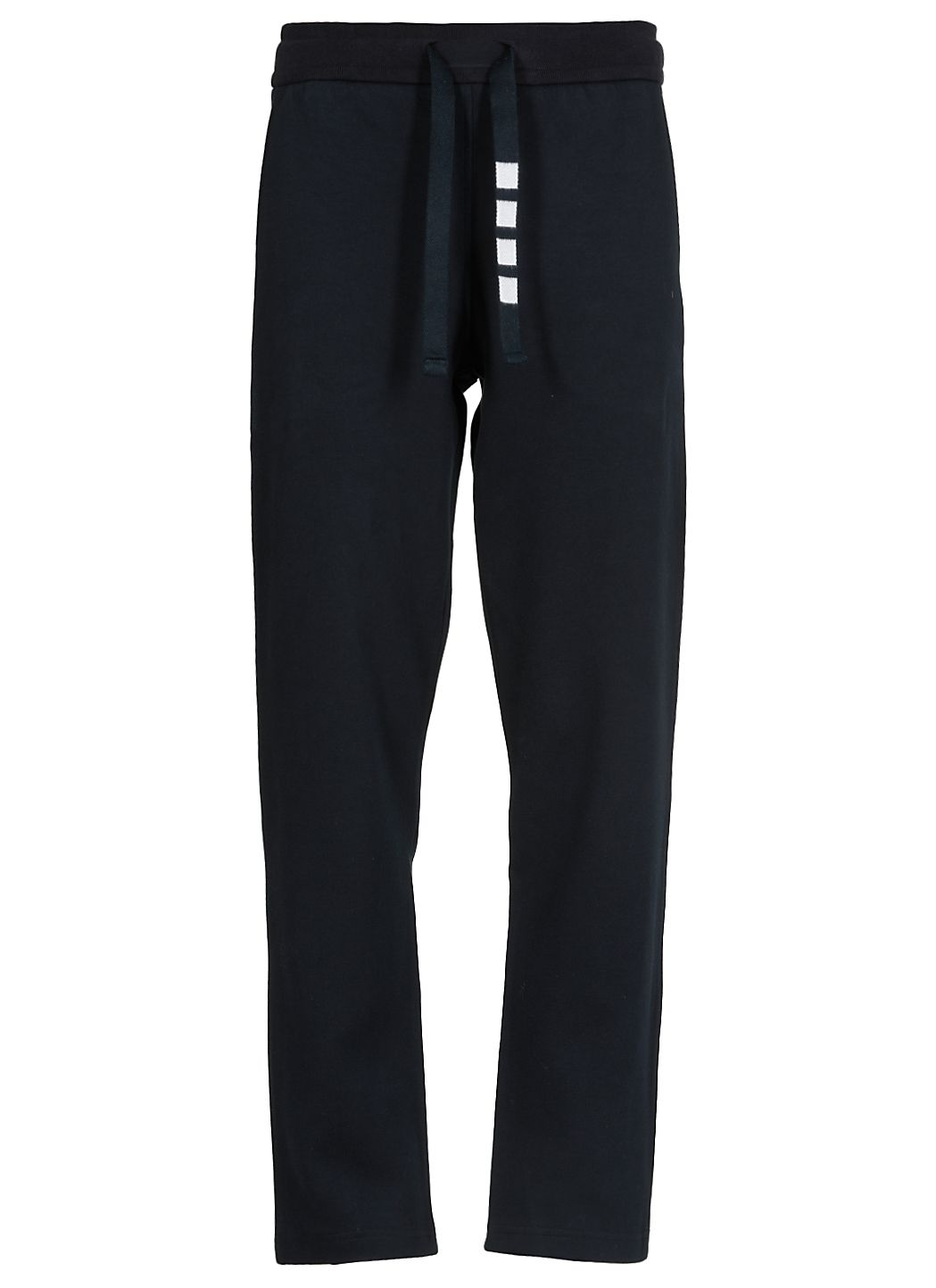 Straight leg sweatpants in double knit cotton