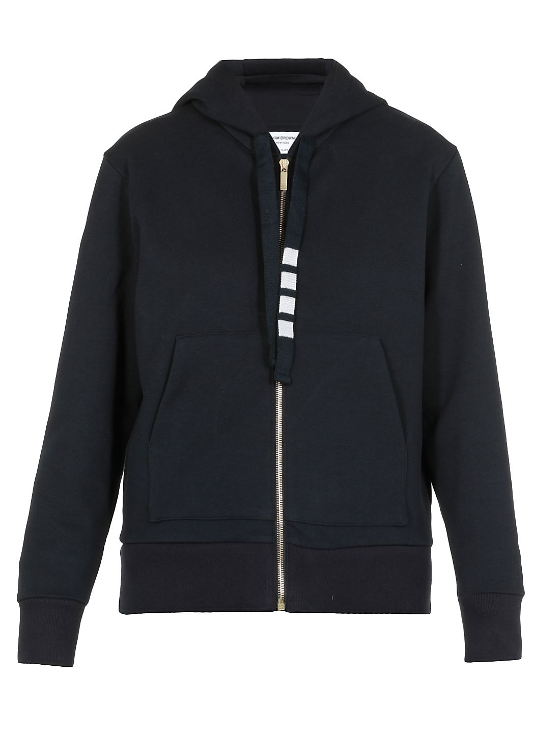 Double knit cotton zip up hoodie