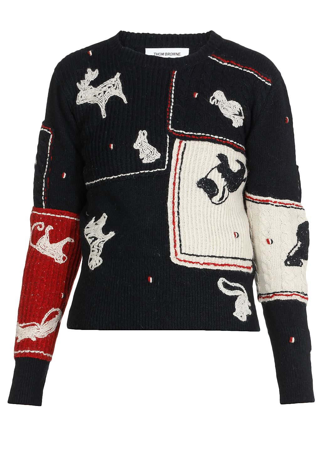 Multi Animal mohair wool sweater