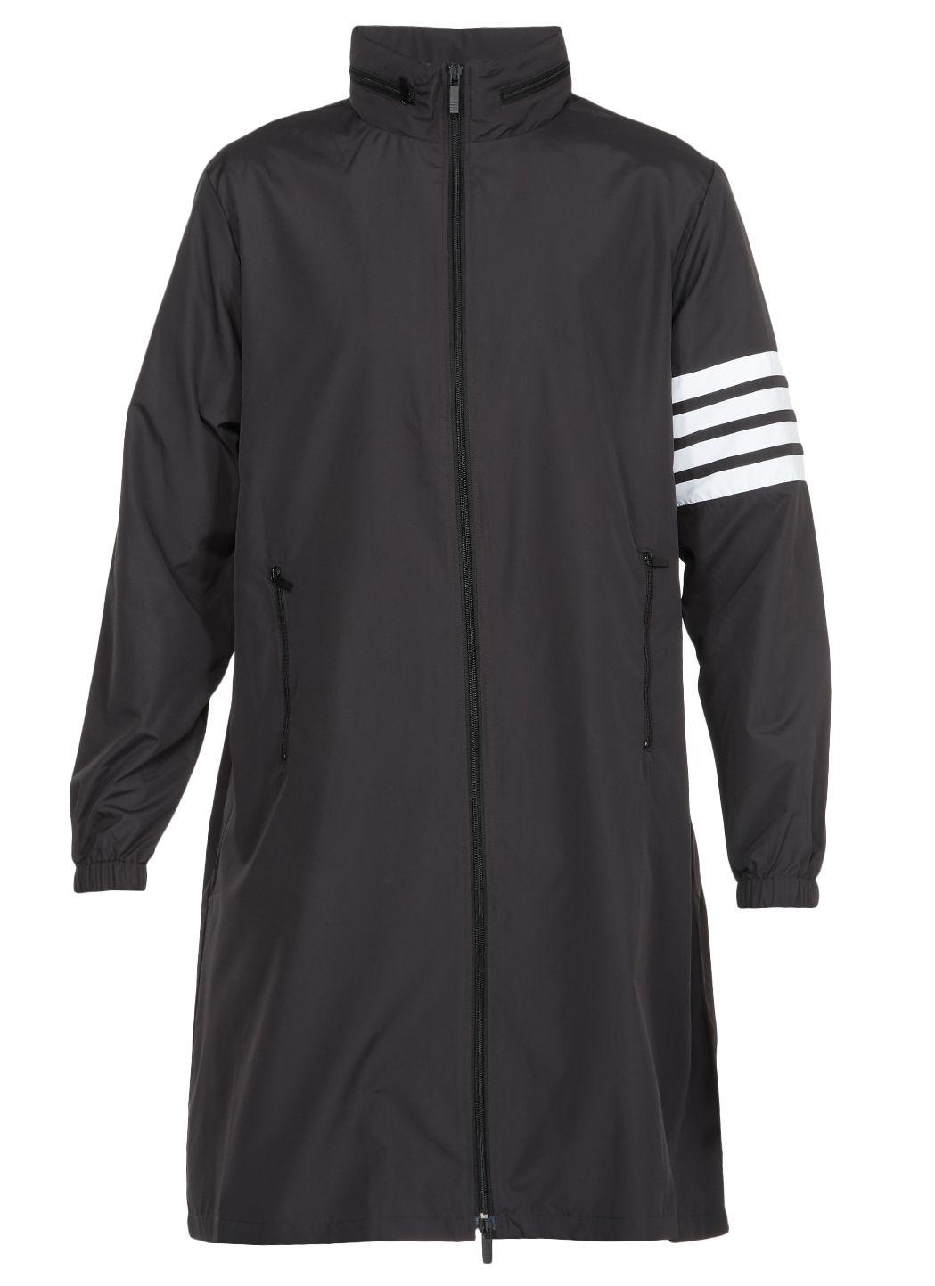 Hidden hoodie zip up parka in flyweight tech