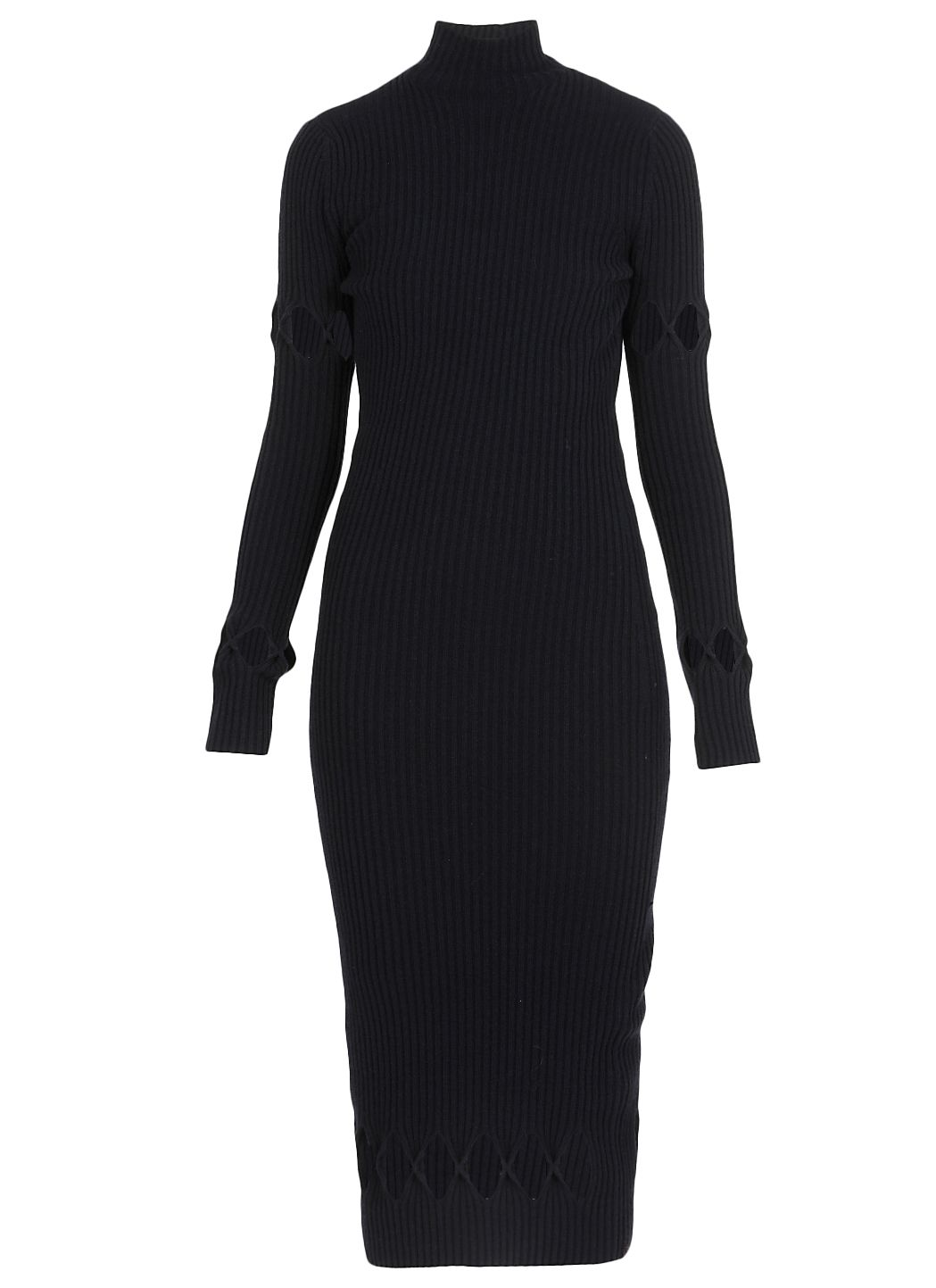 Long sleeve fitted polo neck dress