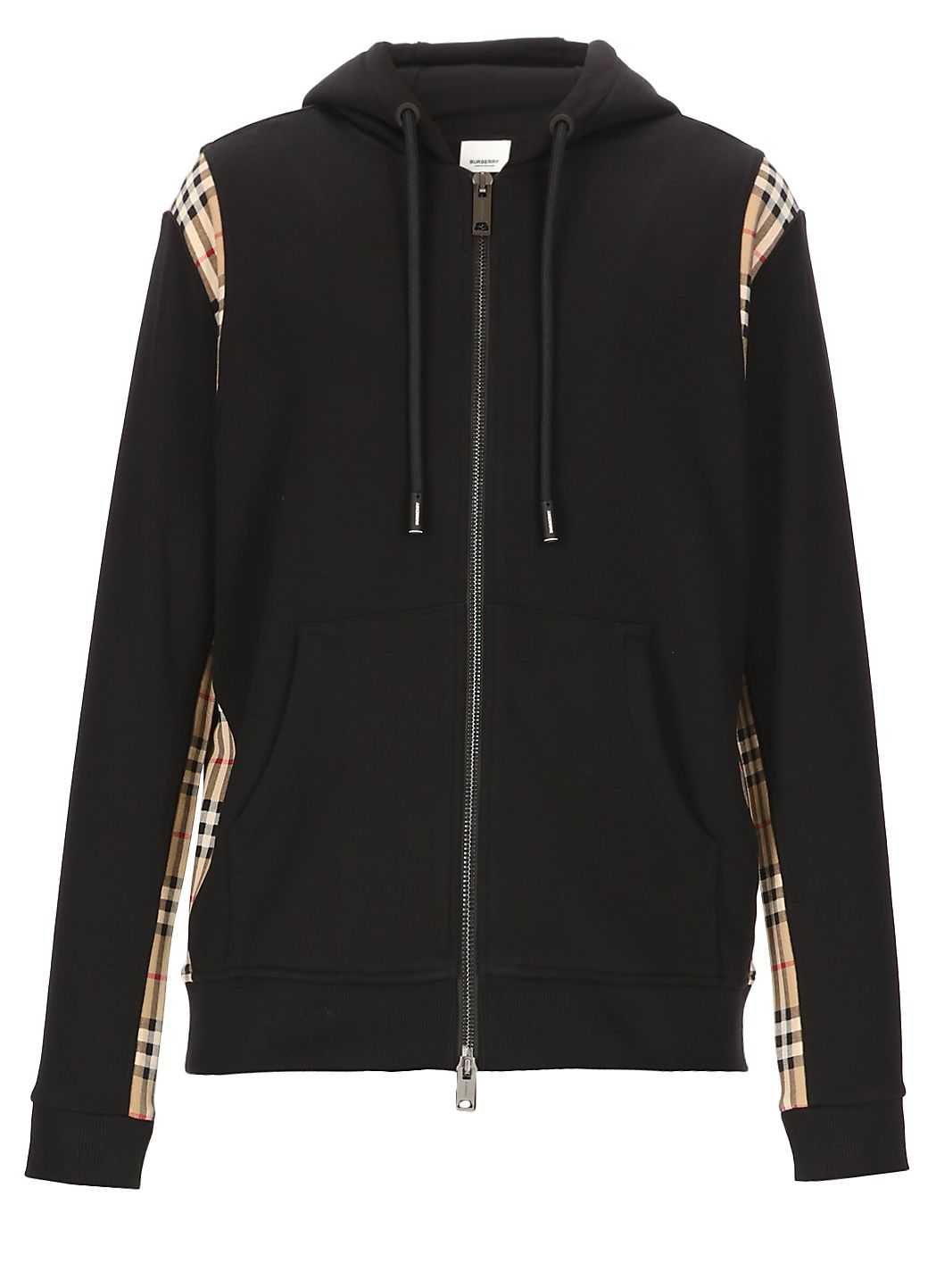 Hoodie with check details