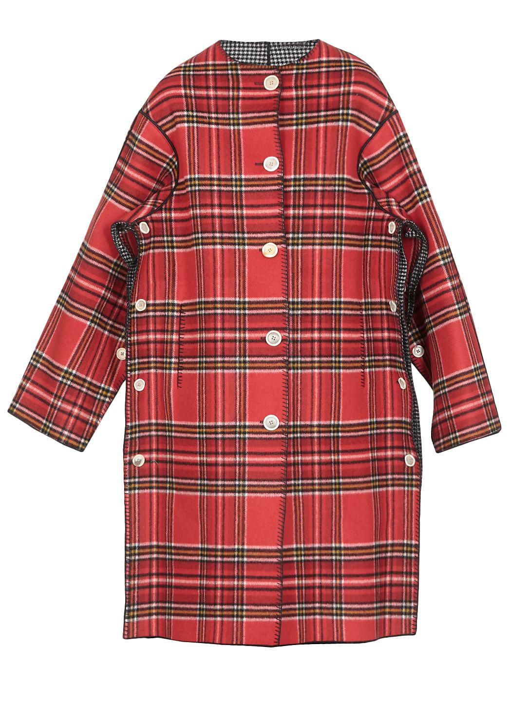 Double face melton wool coat