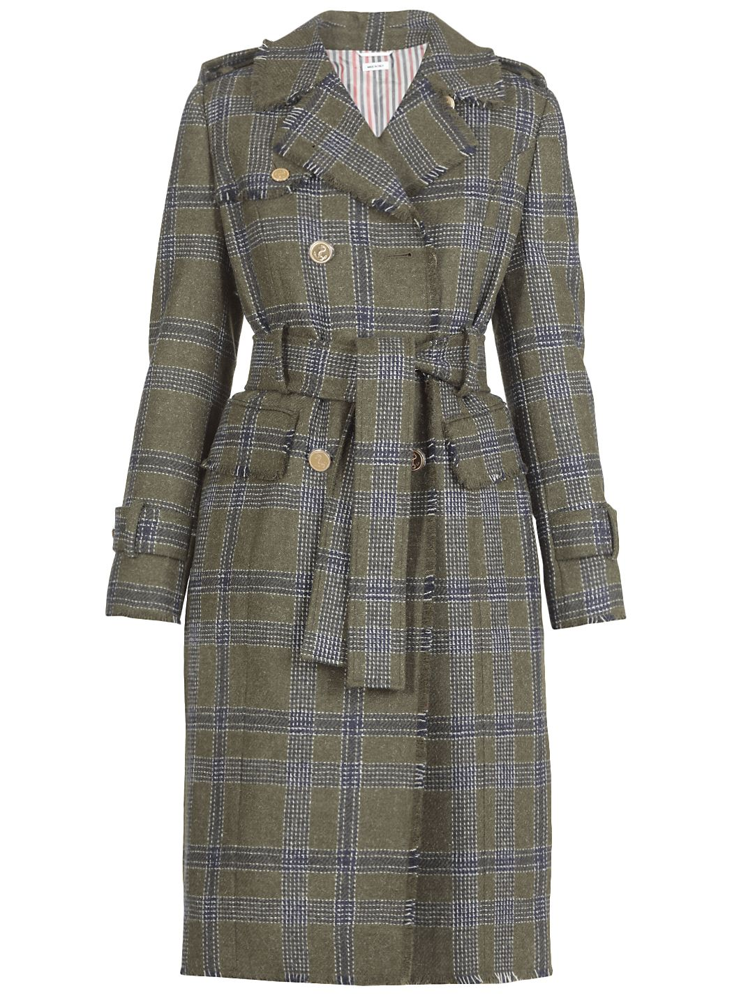 Wool long double breasted coat