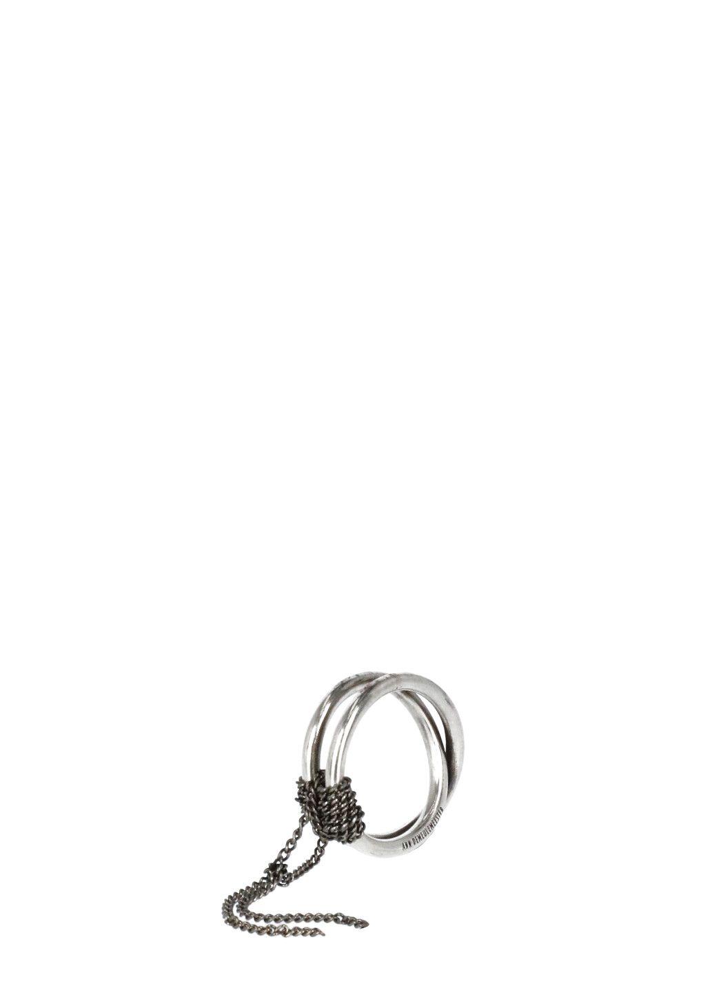 Cross ring in argento