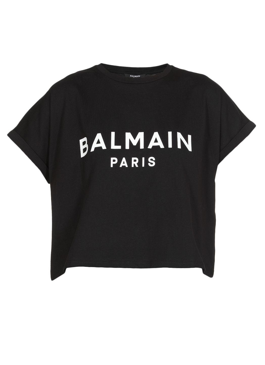 T-shirt cropped con logo