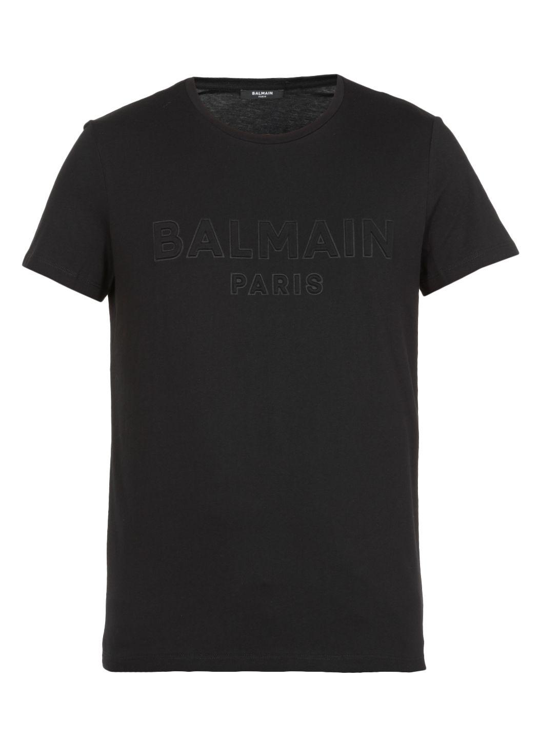 T-shirt con logo goffrato