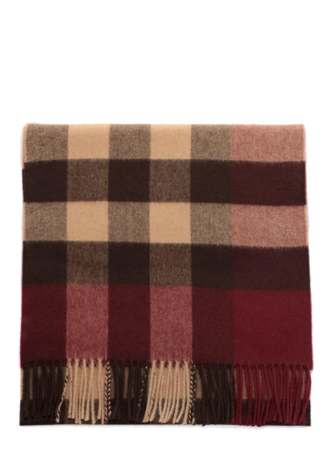 Half mega check scarf