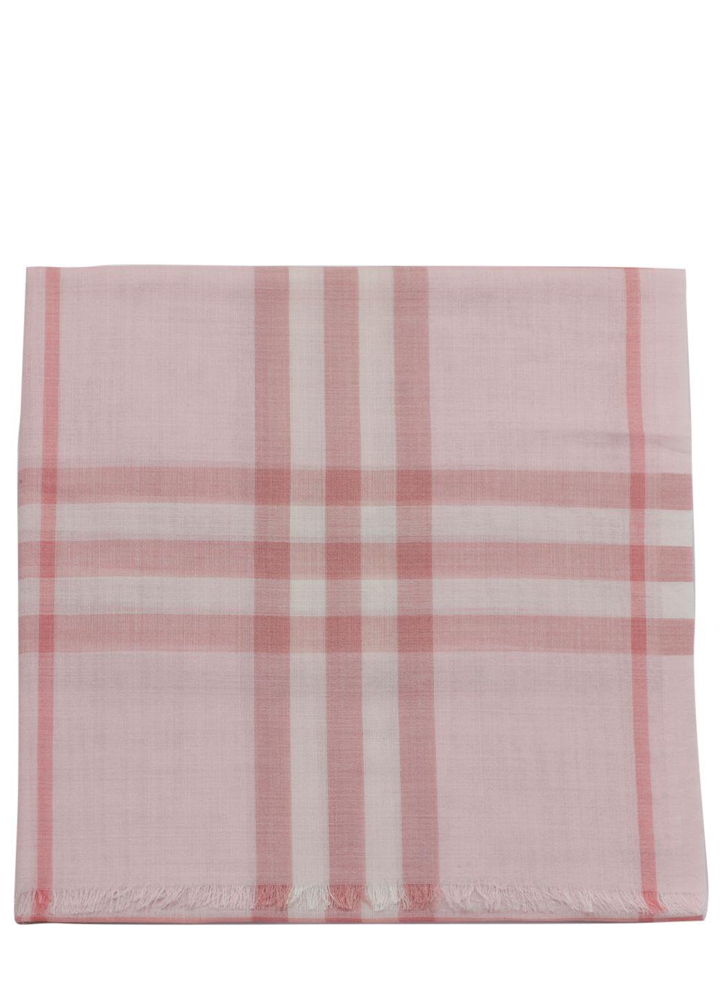 Gauzed wool and silk scarf