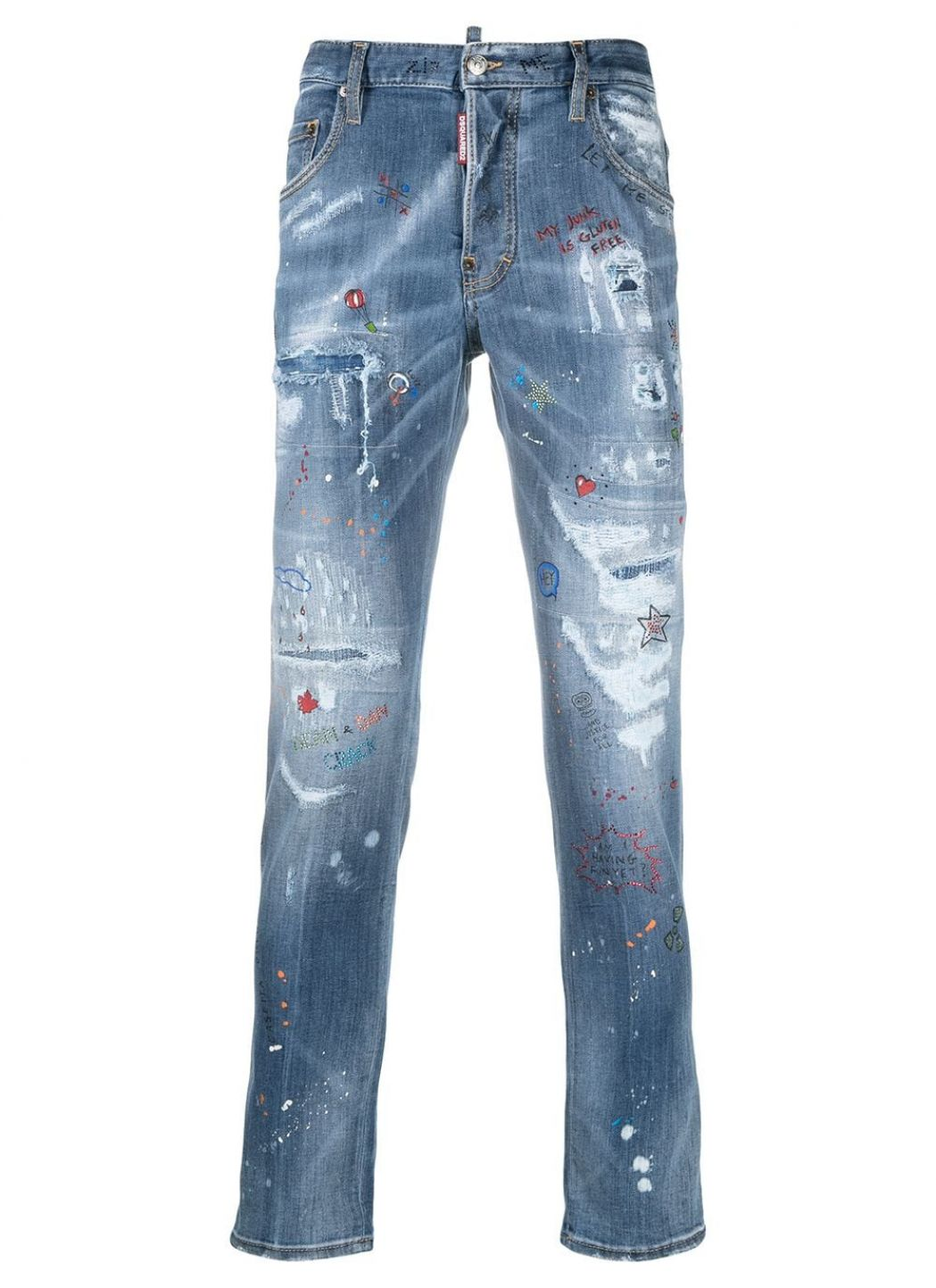 Jeans Trash Light Wash Skater
