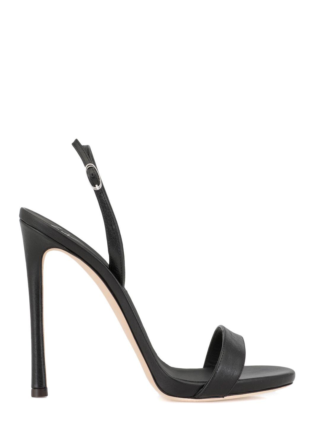 Leather heel sandal