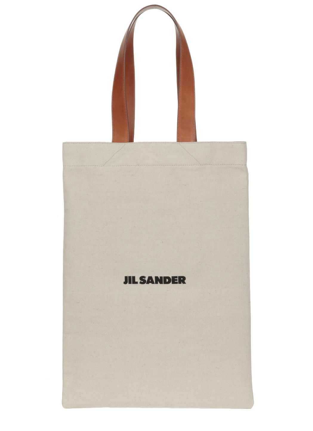 Canvas and leather shopping bag