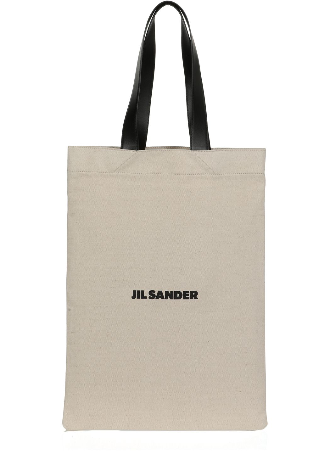 Borsa shopping in canvas e pelle
