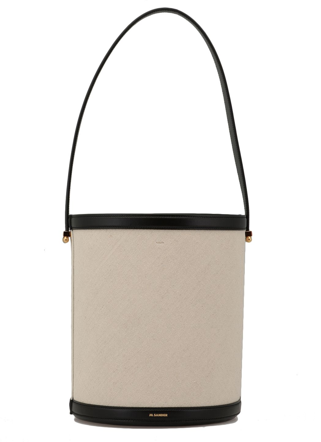 Leather and fabric shoulder bag
