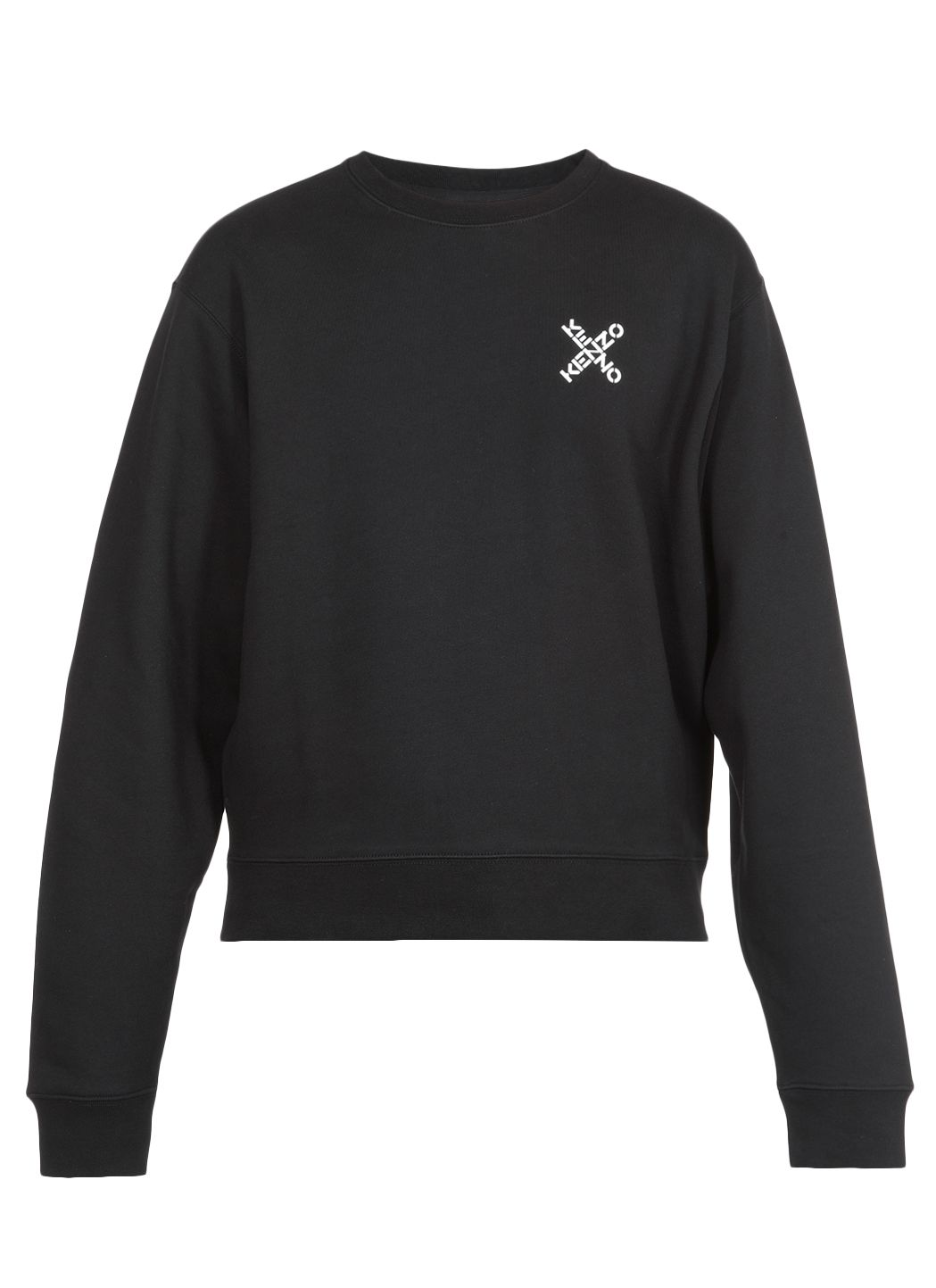 Cotton blend swearshirt with logo