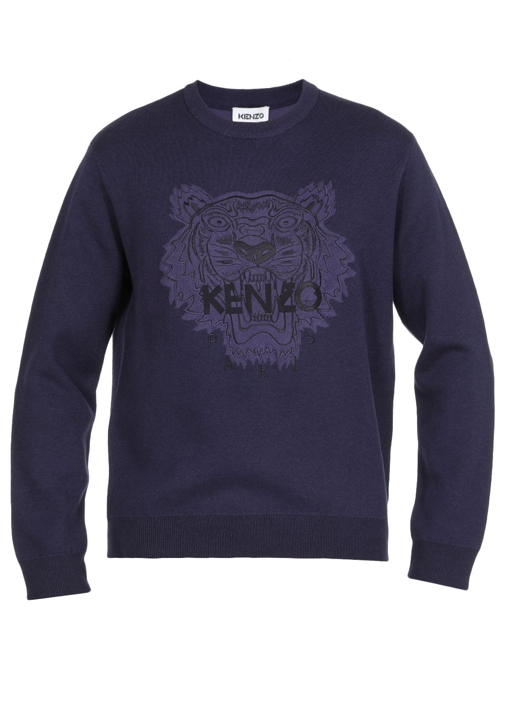 Wool and cotton blend logo sweater