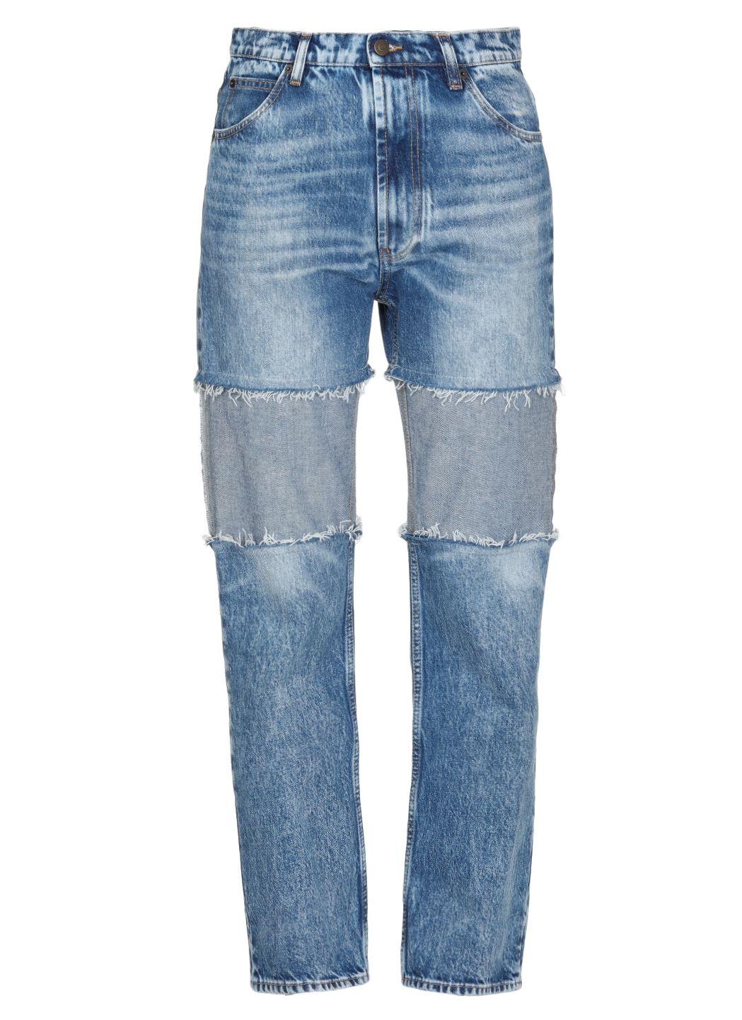 Recycled denim Spliced jeans