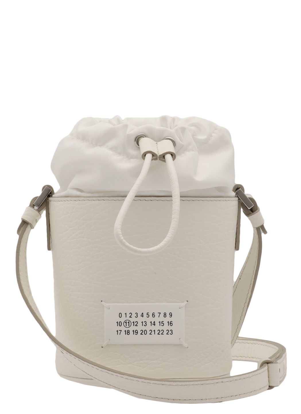 Pebbled leather mini bucket bag