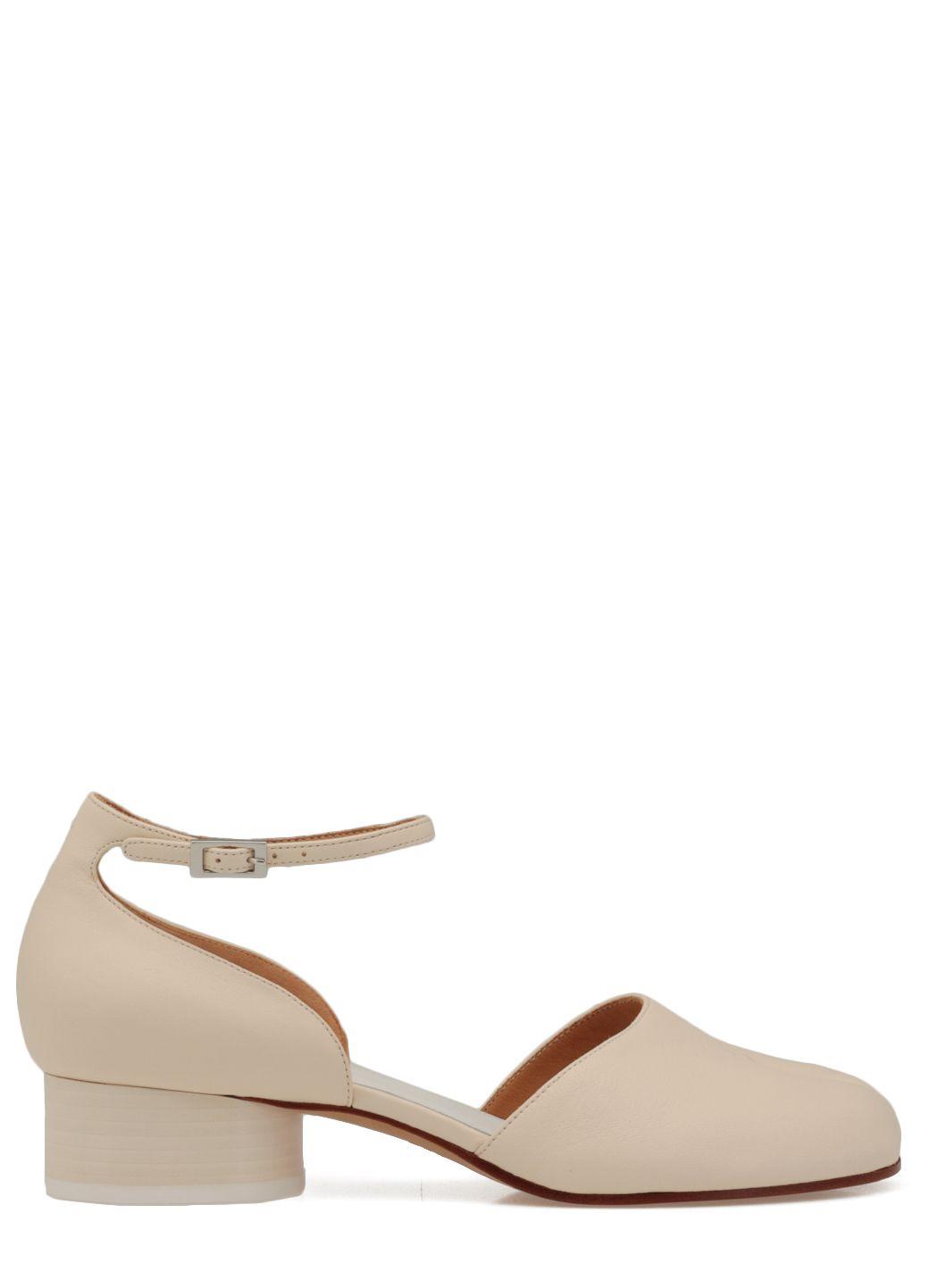 Leather Tabi shoe