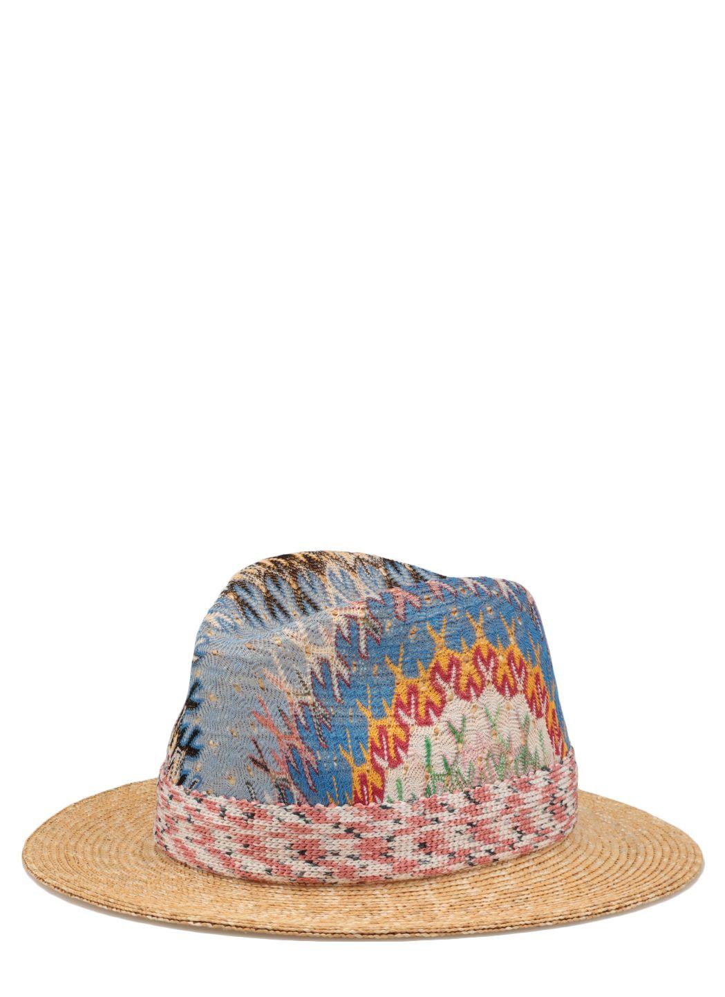 Cappello in paglia multicolore