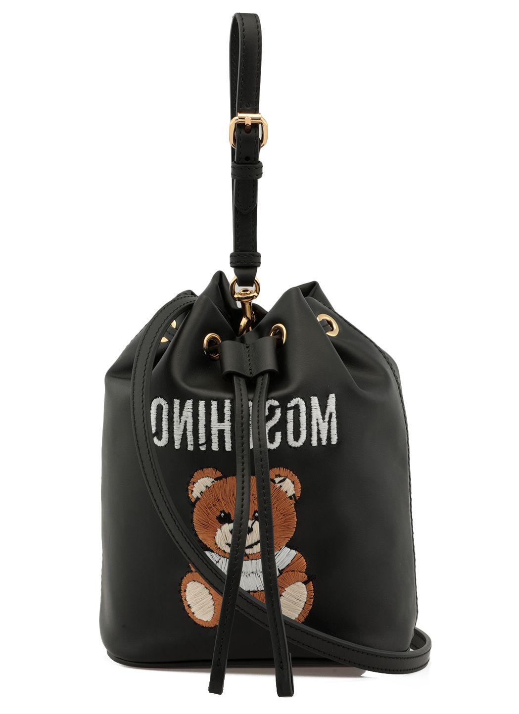 Saffiano leather bucketbag