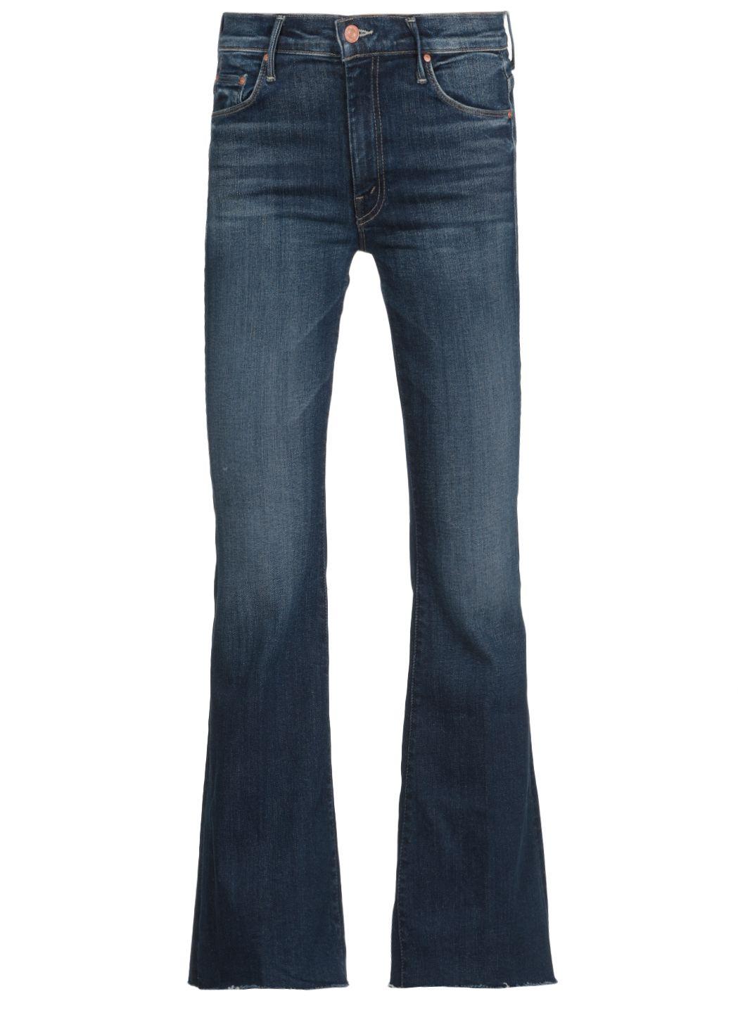 Jeans a zampa in cotone