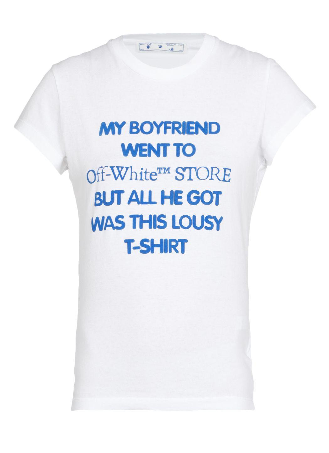 T-shirt in cotone 'My Boyfriend'