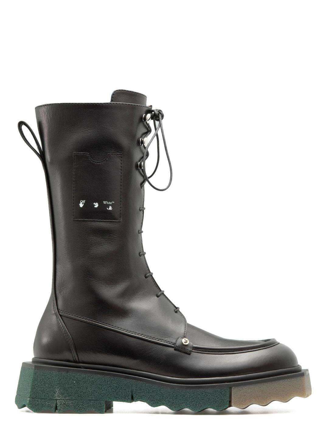 Leather high boot