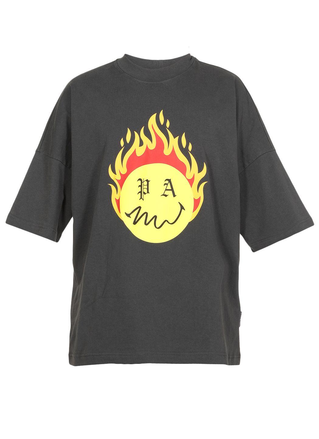 Cotton t-shirt con logo