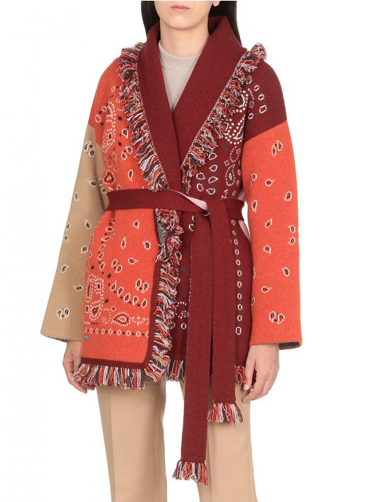 Bandana Knitted Cardigan