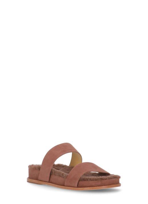 Sandal Curly Shearling Slide